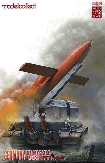 Picture of Germany WWII V1 Missile launcher with  E-50  body