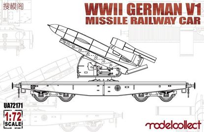 Picture of WWII Germany V1 Missile Railway Car